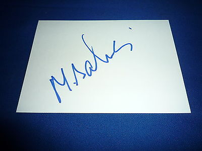 MANSOUR BAHRAMI  signed Autogramm In Person 10x15 cm weisse Karte