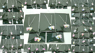 Hello Kitty Necklaces Chains,15 Designs,Mixed Job Lots,Wholesale Girls Jewellery