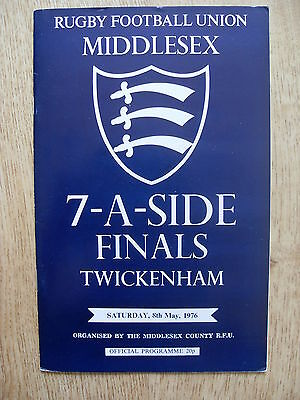 Middlesex Sevens 1976 Rugby Programme