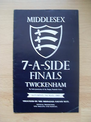 Middlesex Sevens 1969 Rugby Programme