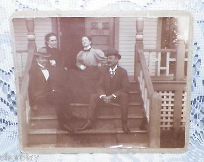 Vintage CABINET CARD Original Real Photo Photograph FAMILY GROUP
