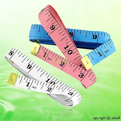 """60"""" 150cm Soft Flat Plastic Measuring Tape Ruler For Dieting Tailor Seamstress"""