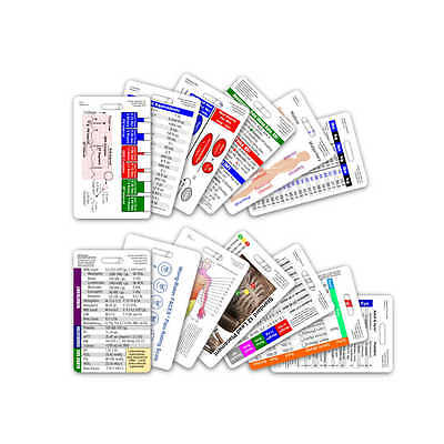 Complete Nurse Vertical Badge Card Set - 13 Cards - Reference Card RN LPN CNA NA