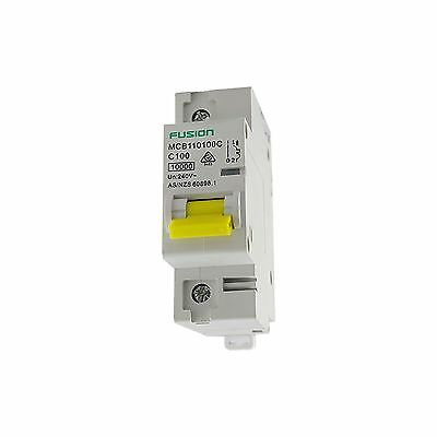 Single Phase One Pole 100A Circuit Breaker 10Ka MCB 240V For Main Switch Board