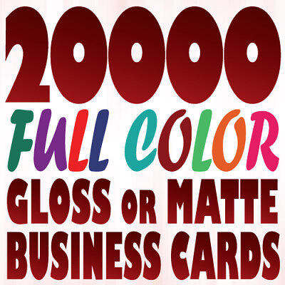 20000 Full Color BUSINESS CARD Printing on 16pt stock with Gloss or Matte Finish
