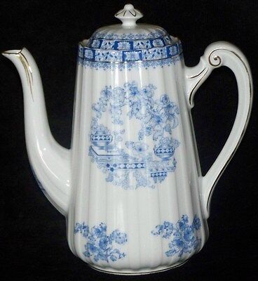 "Seltman Weiden Theresia Bavaria Blue Urn Pat 9 7/8""h x 9""d Coffee Pot Unmarked"