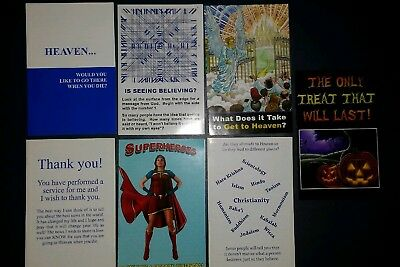 120 Tracts! Gospel Tract Variety Pack! 6 Unique tracts! Christian Bible Verses
