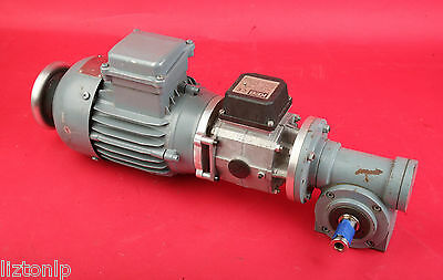 Electric Clutch Right Angle Double Shaft Gear Reducer 0.37kw  KEB CE Warmekl.F