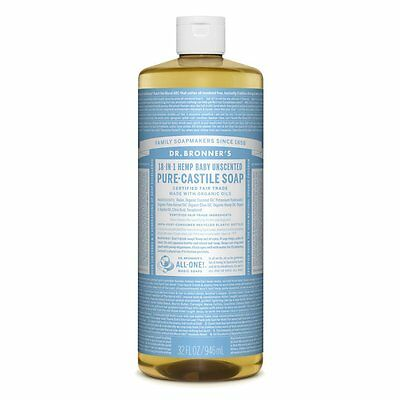 Dr. Bronner's Magic Soaps 18in1 Hemp Unscented Baby-Mild 946ml Dr Bronners