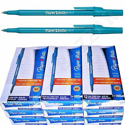 108 Papermate Pens Blue Paper Mate Pen Ink Office Ball Point Bulk Wholesale