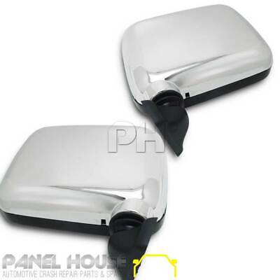 NEW Holden TF Rodeo '89-'96 PAIR Skin Mount CHROME Door Mirror Assembly LHS RHS