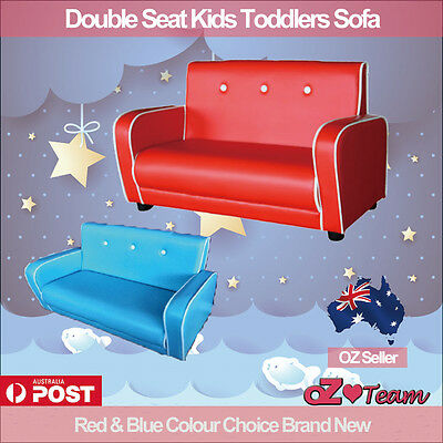 Kids Toddlers Sofa Lounge Couch Chair Double Seat Brand New