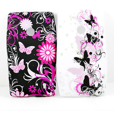 2Pcs Lovely Snap On Soft Rubber Silicone Back Cover Case For Nokia Lumia 520