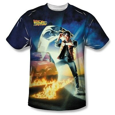Back to the Future Movie Poster All Over Sublimation Print Poly Shirt S-3XL