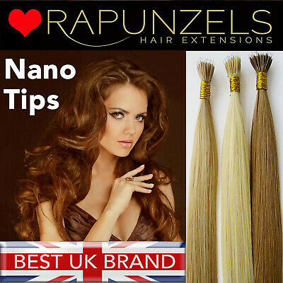 """20"""" 1 gram nano tip remy human hair extensions, double thickness, nano ring bead"""