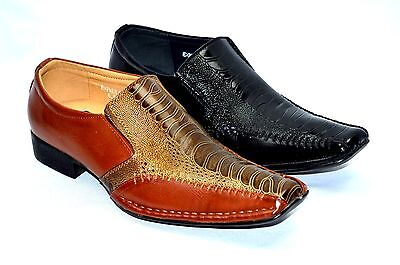 Men's Dress Formal Shoes Loafers Slip On Fashion black or Brown Shoes-exp 08