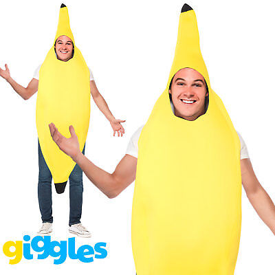 Banana Costume Adult Fancy Dress Fruit Outfit Hen Stag Comedy Funny Suit Party