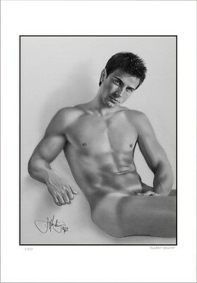 """Nude  Male  Study    """"sweet Youth""""     Gay  Interest          Limited Edition"""