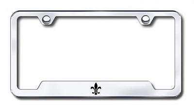 chevy corvette stainless steel license plate frame logo tag mirror bright chrome