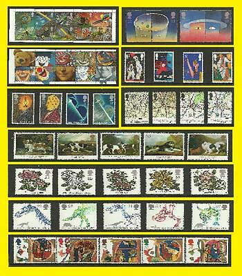 1991 All Commemorative Issues of Great Britain each Sold Separately Mint nh