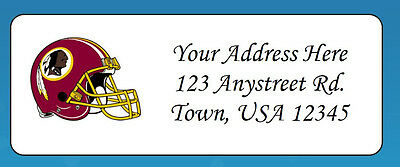 60 Personalized WASHINGTON REDSKINS Return Address Labels