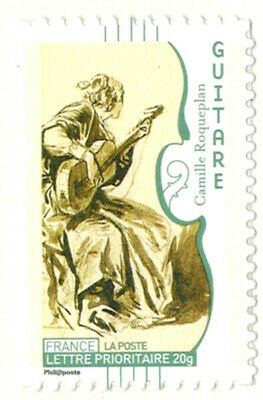 2010//AUTOADHESIF//TIMBRE FRANCE NEUF**/GUITARE-TABLEAU **STAMP. Y/T N°393a
