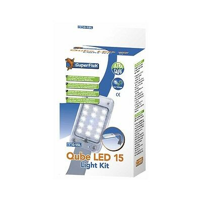 Superfish Qube LED Light 15 Kit Energy Efficient Low Voltage Tropical Fish Tank