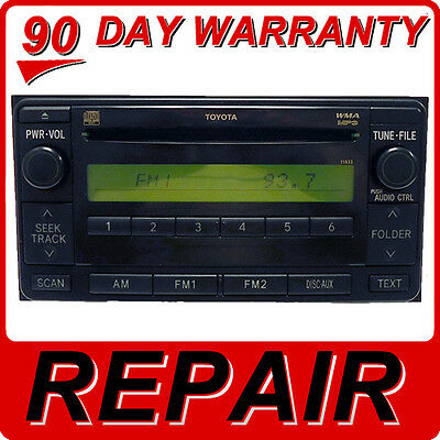 REPAIR SERVICE ONLY TOYOTA SCION AM FM Radio Single CD Player Factory OEM FIX