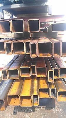 "Light Rust Surplus 3"" x 8"" x .229"" Hot Rolled Steel Square Tube - 48"" Long"