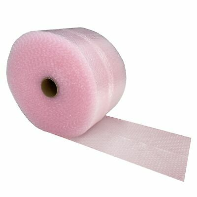 "Pink Anti-Static Bubble Roll 175' x 12"" - Small Bubbles 3/16"" Wrap Perforated"