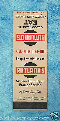 Ruthland's Drug Store and Fountain Service, St. Petersburgh Florida, (VM-28)