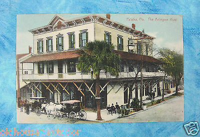 1910 Arlington Hotel, Palatka Florida, Federal Point FL Postmark, rare!  PC-7