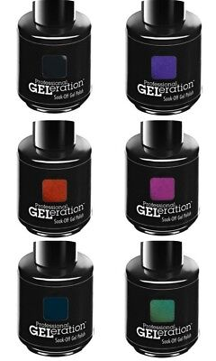 New Jessica Geleration Soak-off Gel Nail Polish Night At The Opera 2013 Set Of 6