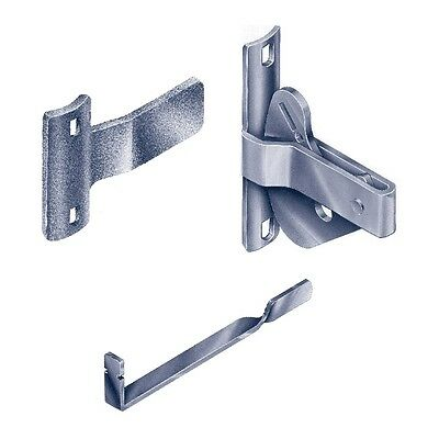 Elgate Gate Latch DLABP D-Latch For Round Post w/ Striker  & Handle Zinc Plated
