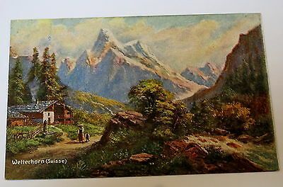 Antique Postcard Wetterhorn (Suisse)