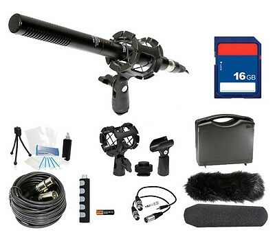 Microphone Broadcasting Kit + 16GB SD Memory Card for Sony Alpha SLT-A35