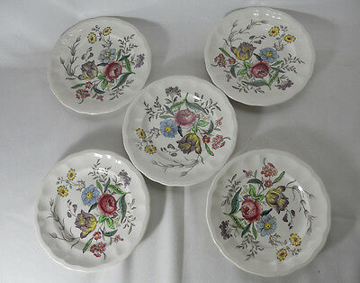 Spode Gainsborough-Marlborough S245 Set of 5 Bread and Butter Plates
