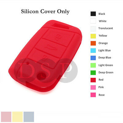 Silicone Cover fit for VOLKSWAGEN Golf 7 GTI Flip Remote Key Case 3 BTN 12 C RD