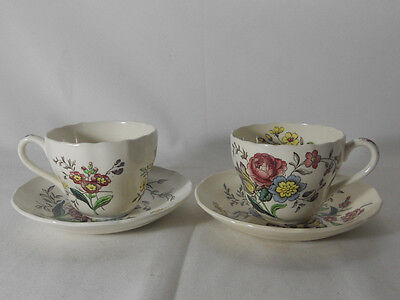 Spode Gainsborough-Marlborough S245 Pair of Cups and Saucers