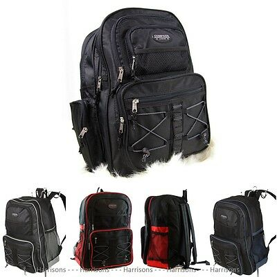 Large Durable Backpack 35 Litre Travel Cabin Bag School A4 Work Sports Gym 17""