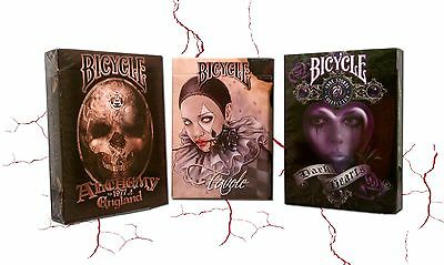 Lot 3 Deck Bicycle Fantasy Art Favole, Alchemy II, Anne Stokes II Playing Cards