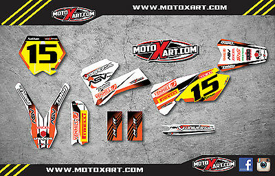 KTM 85 2006 - 2012 Full Custom Graphic Kit - Storm Style decals stickers