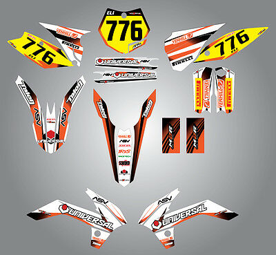 KTM 85 2013 - 2016 Full  Custom Graphic  Kit - Storm Style stickers / decals