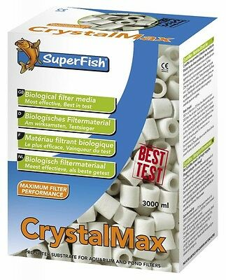 Superfish Crystal Max Filter Media 3000ml Filter Media Tropical Discus Fish