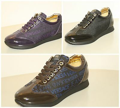 VERSACE Jeans - Sneakers donna sportive nero marrone viola scarpe 2014 OUTLET dd