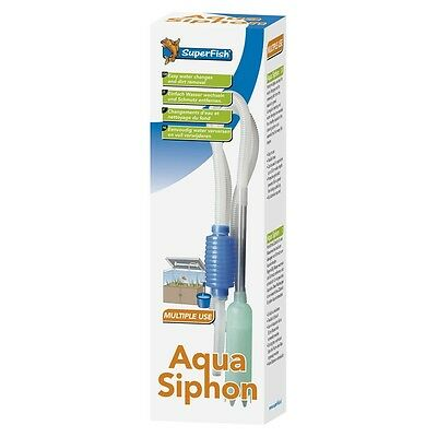 Superfish Aqua Syphon Set Tropical Fish Tank Marine Discus Gravel Cleaner