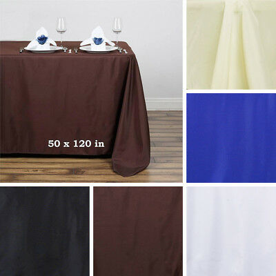 "36 pcs Wholesale Lot 50x120"" RECTANGLE POLYESTER TABLECLOTHS for Wedding Party"