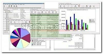 GNUCash Financial Accounting Accounts Double-Entry Bookkeeping System Software.
