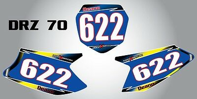 Custom Number Plate Graphics for Suzuki DRZ 70