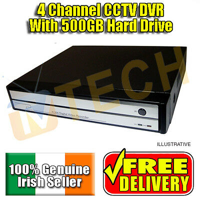 4 Channel CCTV DVR with 500GB HardDrive, Mobile Phone and Internet Viewing